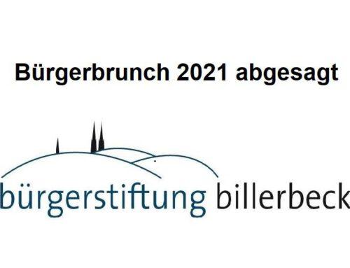 Absage Bürgerbrunch 2021